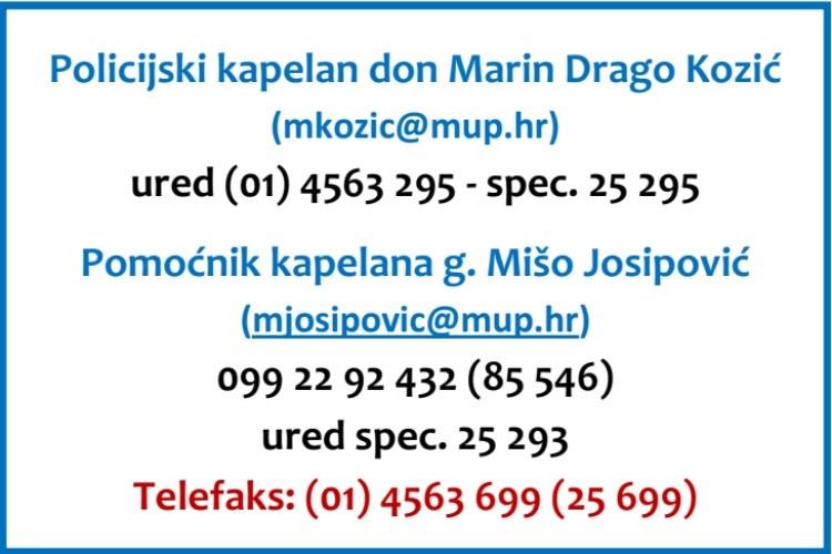 Policijska Uprava Zagrebacka Policijska Kapelanija Majke Bozje Kamenitih Vrata